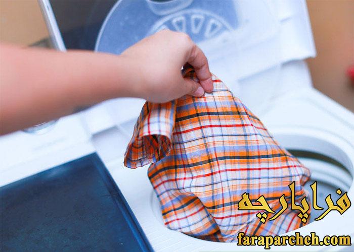 از بین بردن چروک پیراهن با خشک کن ماشین لباسشویی