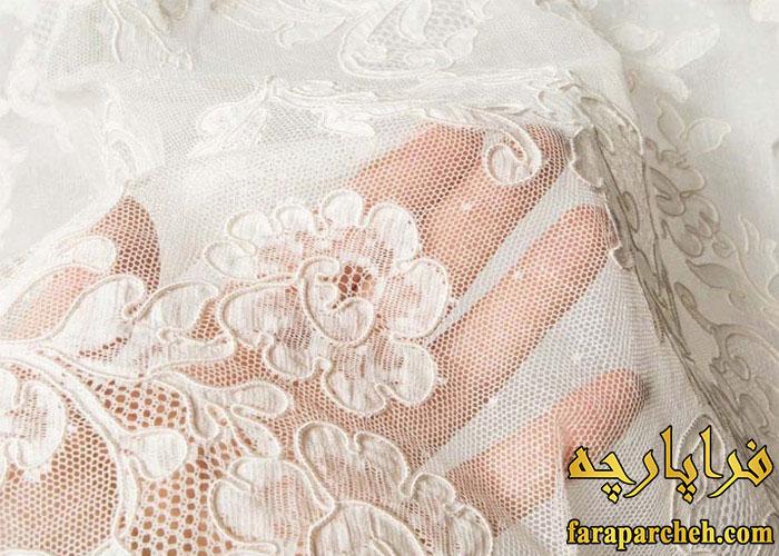 پارچه لباس عروس میکادو